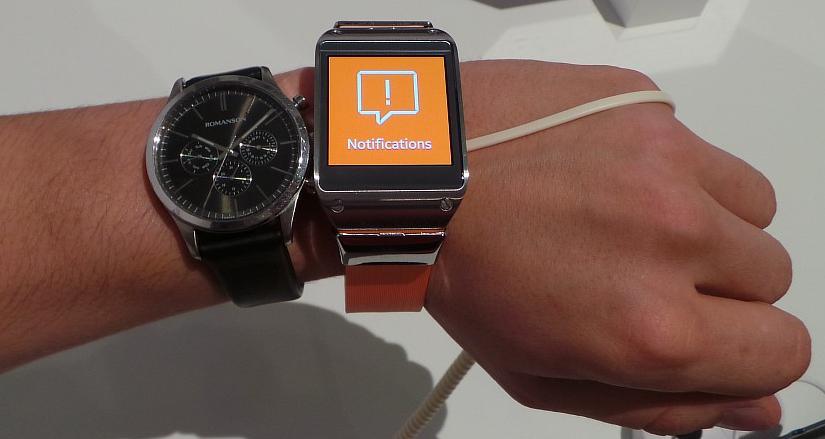 Galaxy Gear comparer avec une montre