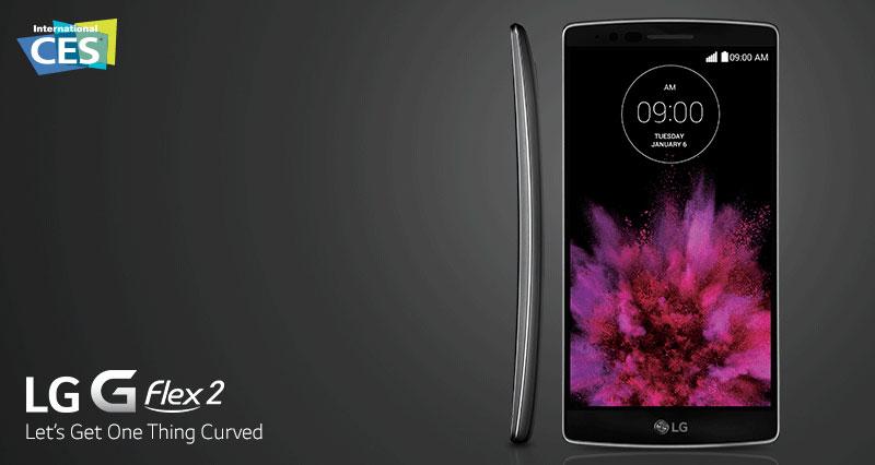 G Flex 2 par LG, téléphone incurvé