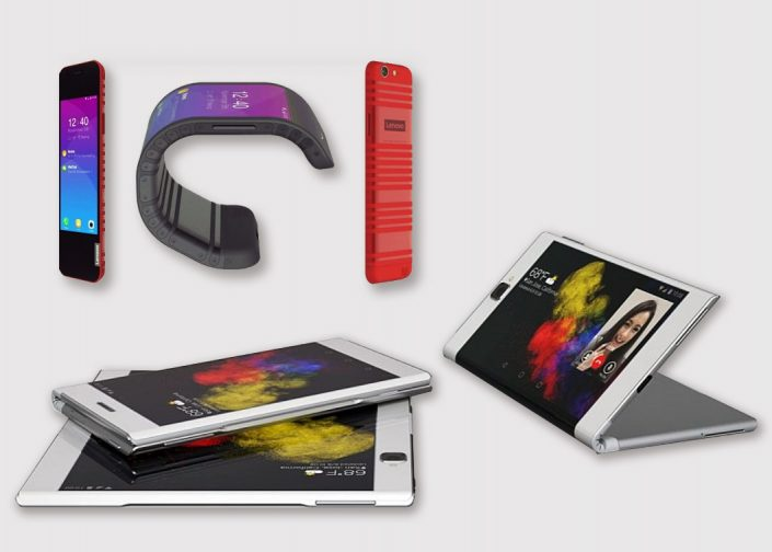 Lenovo et les prototypes à écrans pliables et enroulables