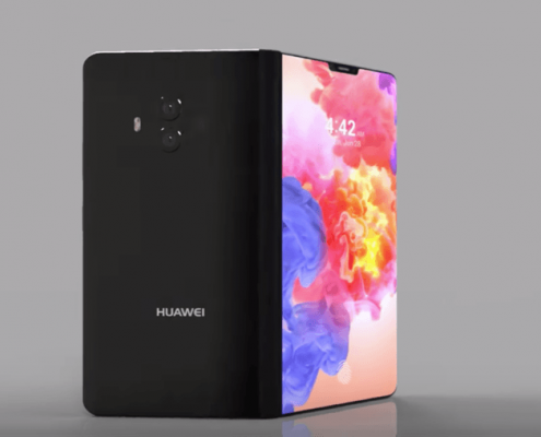 Huawei smartphone pliable concept