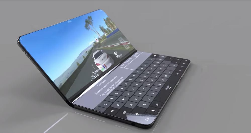 Smartphone pliable format ordinateur portable