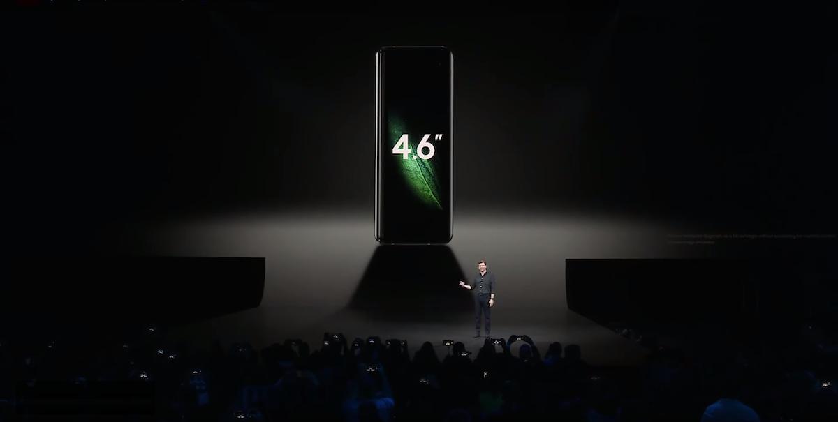 l'ecran du galaxy fold de samsung aura une dimension de 4,6 pouces