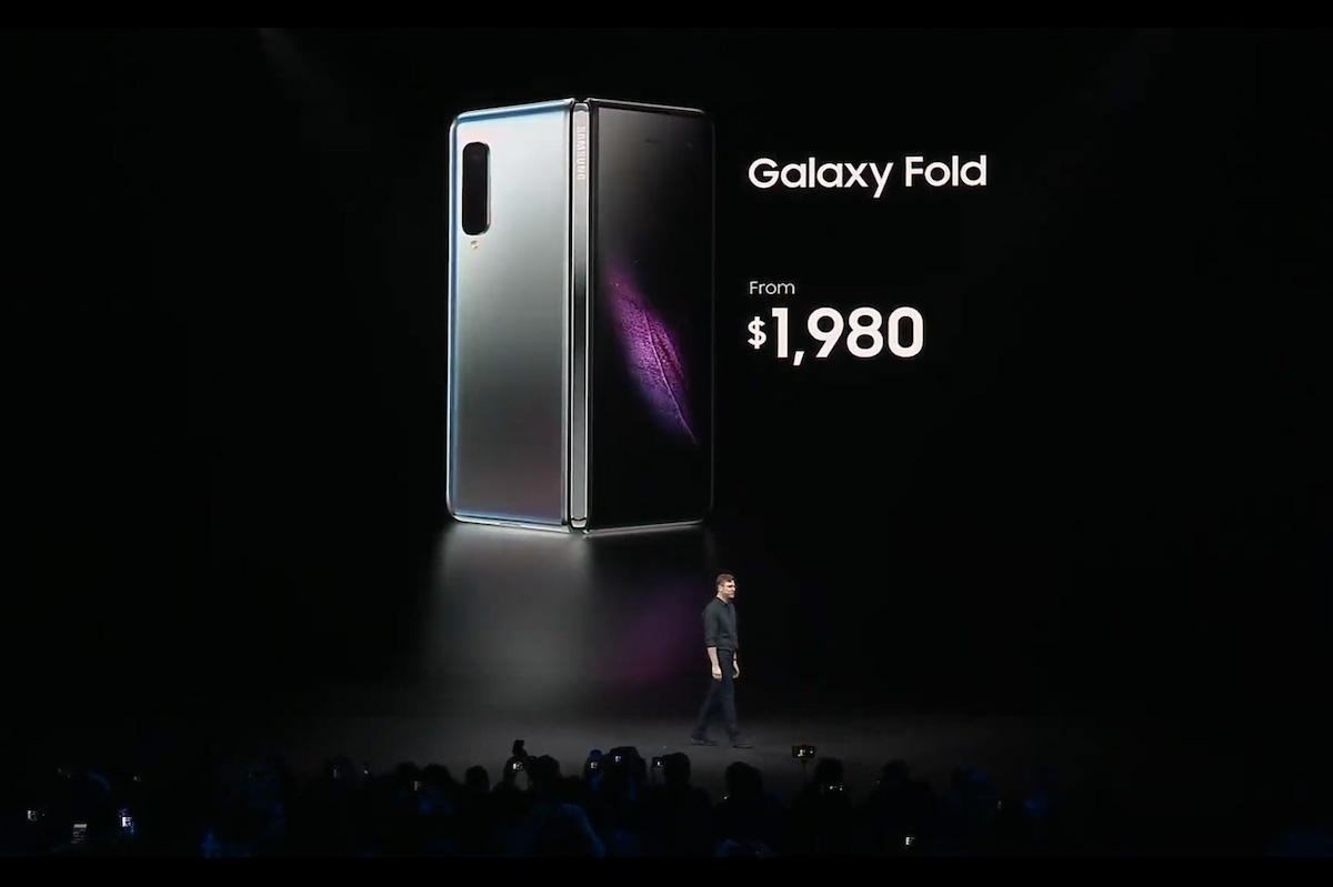 Prix samsung galaxy fold