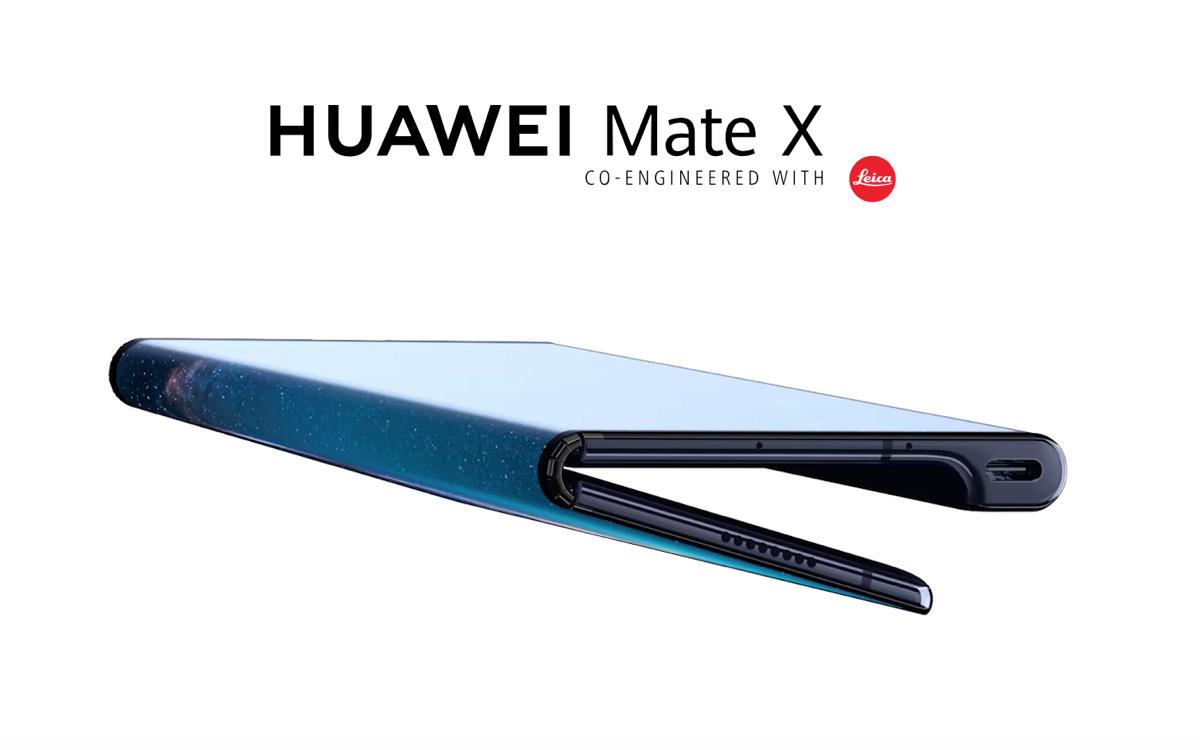 Huawei Mate X smartphone pliable