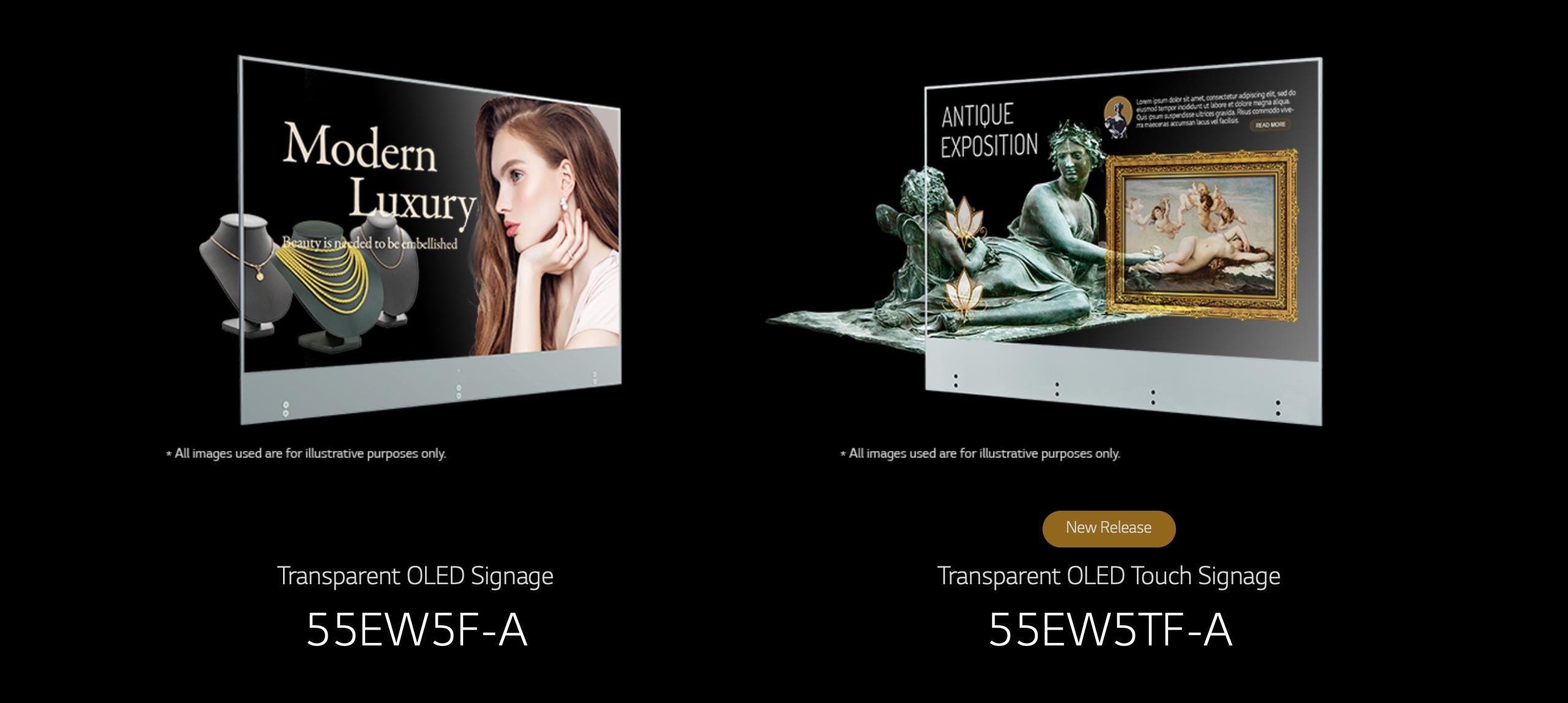 OLED écran transparent marque LG